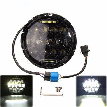 7 Inch 10-24V LED H4 Headlight Hi/Lo for Jeep Wrangler Harley Davidson Hummer