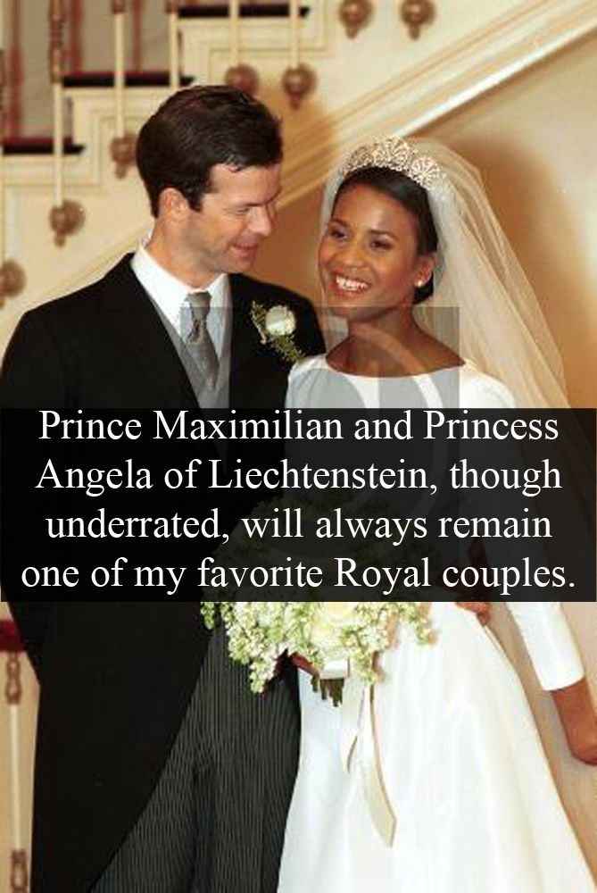 Prince Maximilian and Princess Angela of Liechtenstein...