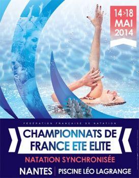 Championnat de France Elite Natation synchronisée. Publié le 07/05/14. Nantes. Loire-Atlantique.