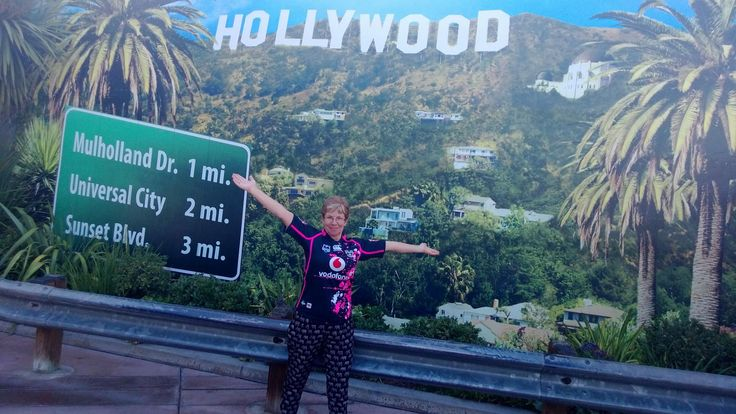 Sandra Delany in her Women In League Jersey repping the Vodafone Warriors in Hollywood, California #WarriorsWorld