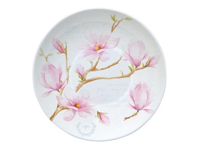 блюдце R2S  Розовая магнолия 10см фарфор