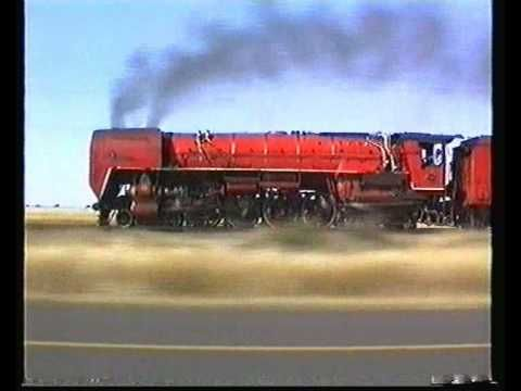 South African Railways RED DEVIL on goods 1991