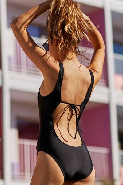 Aerie Scoop One-Piece Swimsuit by AERIE | Happily single? Suit yourself.  Shop…