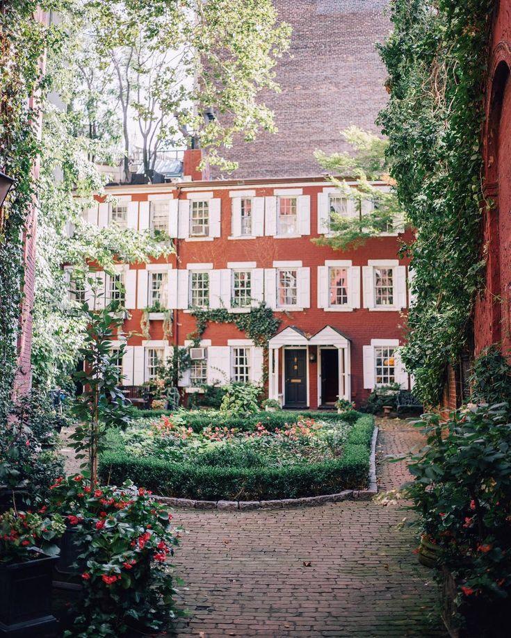 Hidden courtyards in Greenwich Village, NYC                                                                                                                                                                                 More