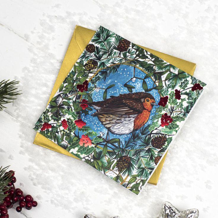 Set Of 5 Robin Cards