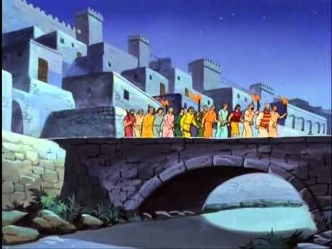 het levens verhaal van jezus - tekenfilm