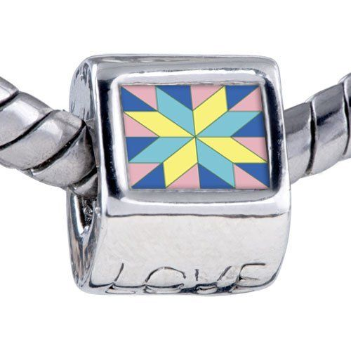 Pugster Bead Multi-Color Geometric Figure Photo Love European Charm Bead Fits Pandora Bracelet Pugster. $12.49. Bracelet sold separately. Hole size is approximately 4.8 to 5mm. Unthreaded European story bracelet design. It's the photo on the love charm. Fit Pandora, Biagi, and Chamilia Charm Bead Bracelets