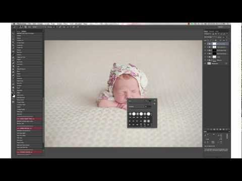 Gorgeous Soft and Sweet Newborn Edit In Photoshop With Luminosity by Paint the Moon - YouTube