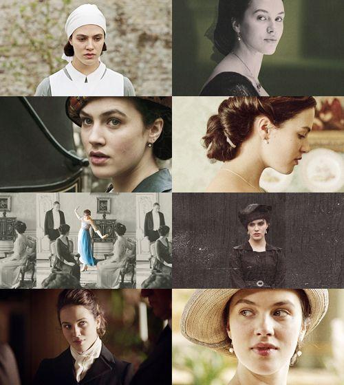 Jessica Brown Findlay as Lady Sybil Crawley in Downton Abbey (2010).
