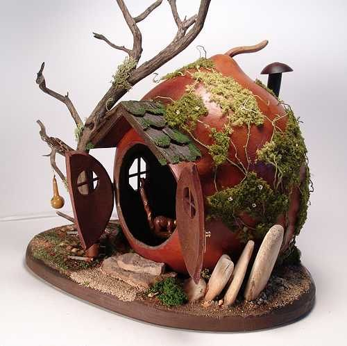 """Mouse House"" Project Packet $5.00 full details and pictures ... I would call ours a fairy house."