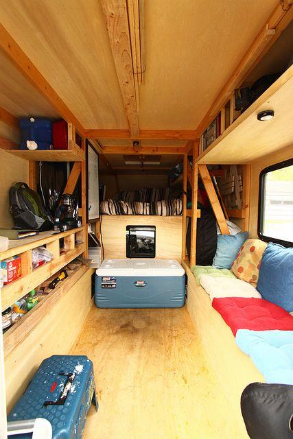 Diy truck camper make pinterest summer shelf for Truck camper interior ideas