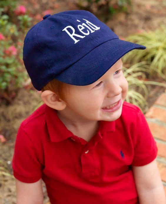 Boys Baseball Hat Monogrammed | The Preppy Pair