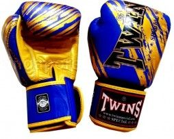 TWINS BOXING GLOVES TW 2 BLUE GOLD