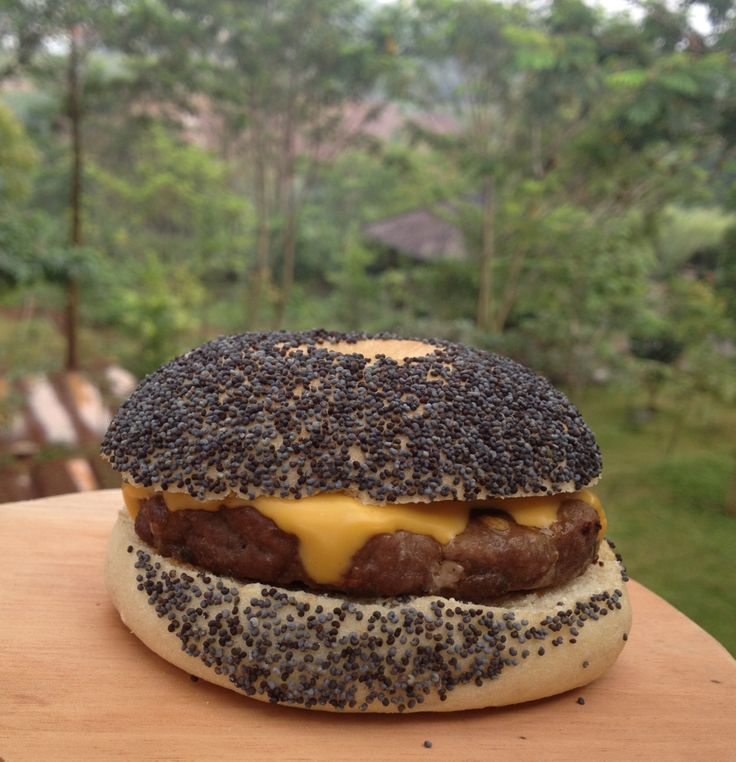 Bagel hamburger