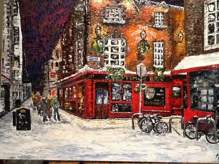 Snowy Night in Temple Bar