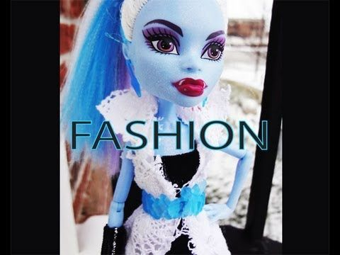 MONSTER HIGH FASHION TUTORIAL. Too cute. The blonde in the pic.