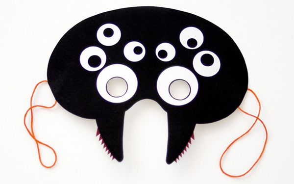 Maschera del ragno per Halloween da stampare gratis e ritagliare