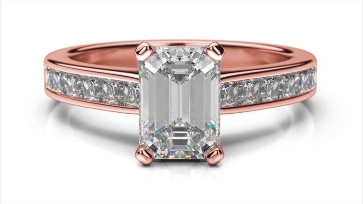 Zásnubný prsteň Kalesi emerald