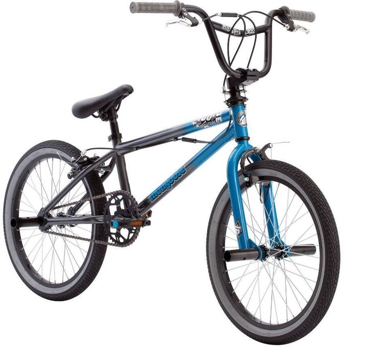Mongoose BMX Bikes 20 inch Boys Bike Mode 100 Freestyle Boys Bicycles Pegs, Blue #Mongoose