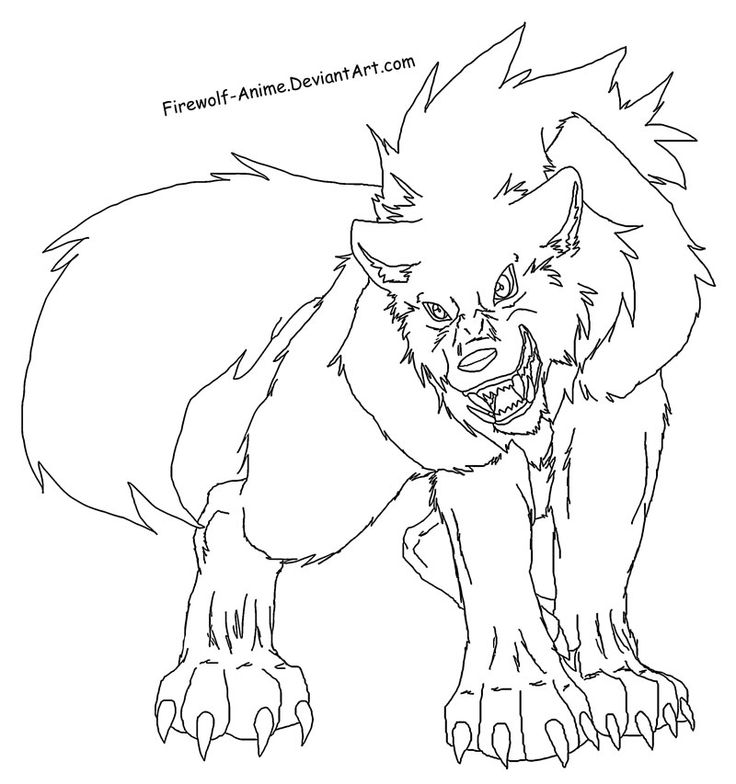 Anime wolf girl coloring pages anime wolf girl wolf