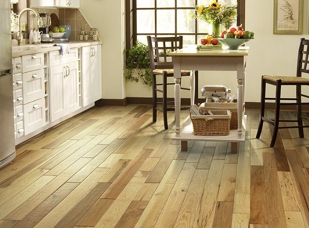 Love this contrasting wood from #Shaw Flooring in Prairie Rock.  Adds some character to your kitchen.