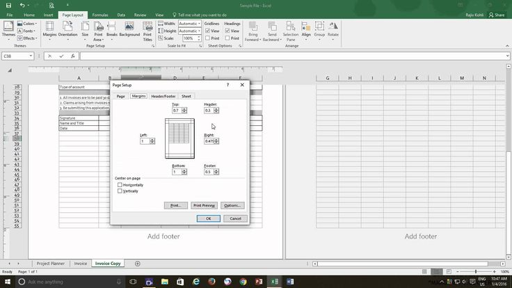 Excel 2016 Tutorial | Page Layout View