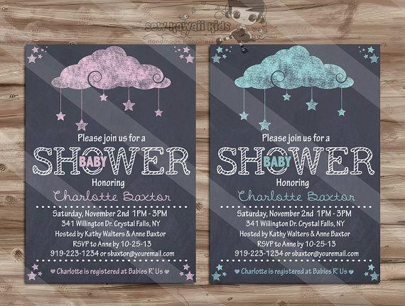 Baby Shower Invitation, Chalkboard Baby Shower Invite, Baby Shower Girl, Baby Shower Boy, Chalk Board - Digital Printable: 5 x 7 JPG File on Etsy, $10.00