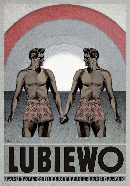 Ryszard Kaja, Lubiewo, Polish Poster #lubiewo #poland #poster #polska #pologne #ryszardkaja #seeuinpoland #visitpoland
