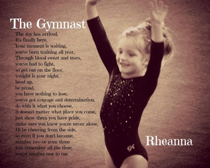 If I ever have a daughter who becomes a gymnast, this will be hanging right above her bed.