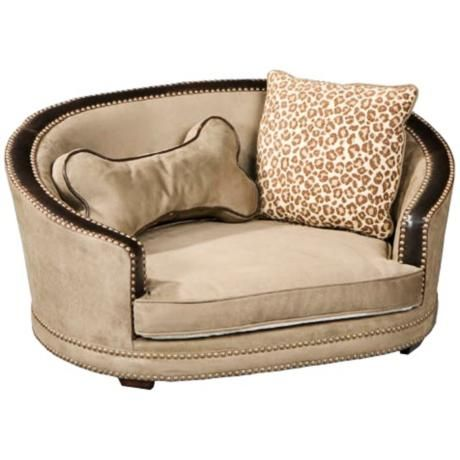 Doggie Suede Speckle Small Dog Bed - a bed I wouldn't mind looking at in my living room....