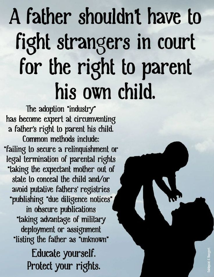 Birth father's rights in adoption: http://www.adoptionbirthmothers.com/the-birth-fathers-rights-in-adoption/