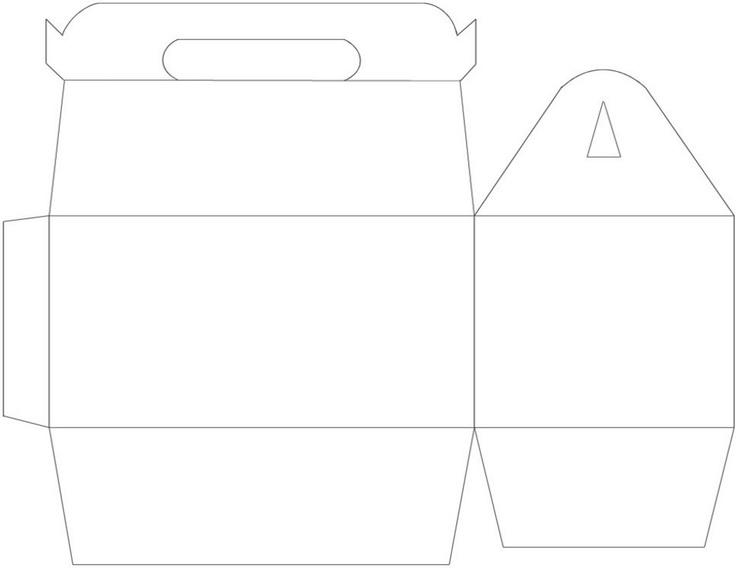 Gable Box Template - free to use and cut with Silhouette.