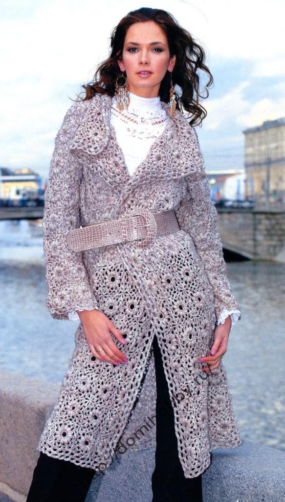 #Coat. With pattern!  Crochet Jacket #2dayslook #fashion #nice #CrochetJacket  www.2dayslook.com