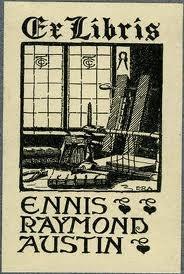 Binder's bookplate