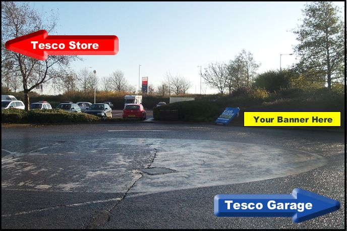 This roundabout in Tesco Stowmarket could be a way to generate more leads.