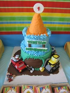 Construction cake, everything is edible