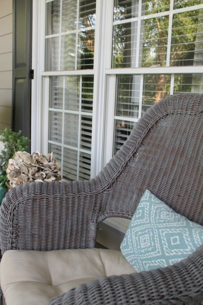 My 2 Favorite Paint Colors For Creating A Weathered Gray Finish Decorating Painting Wicker Furniture Porch Painted