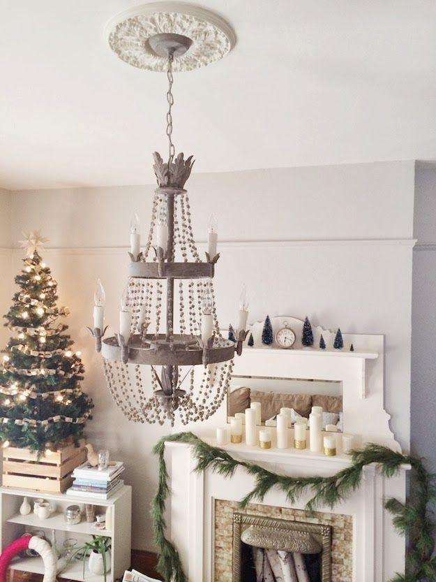 Decoración navideña sencilla y muy cuidada