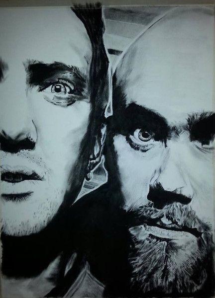 Josh Homme & Nick Oliveri van HP-Art op DaWanda.com
