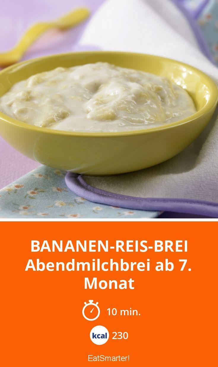 Bananen-Reis-Brei - Abendmilchbrei ab 7. Monat - smarter - Kalorien: 230 Kcal - Zeit: 10 Min. | eatsmarter.de