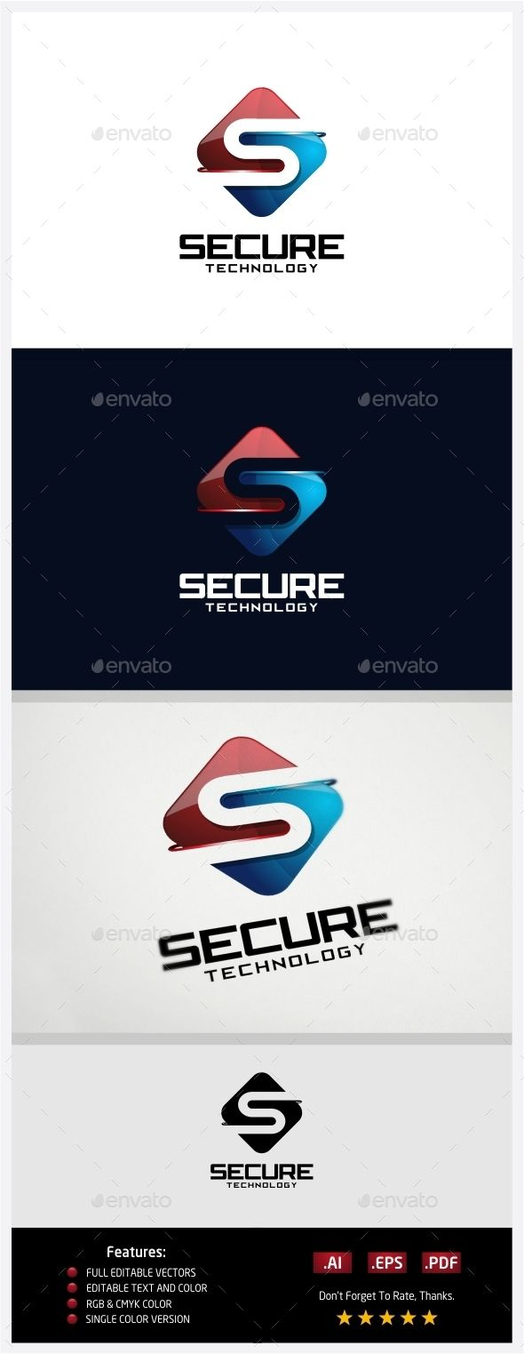 Secure Technology  Logo Design Template Vector #logotype Download it here: graphicriver.net/…