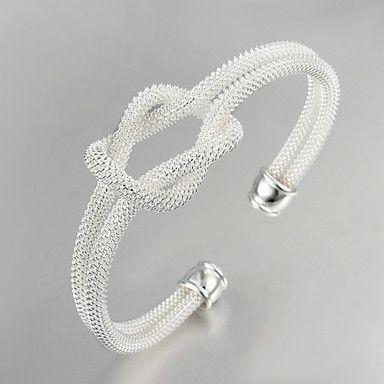 Bangles 1 stuks,Zilver Armbanden Sterling zilver Sieraden Dames