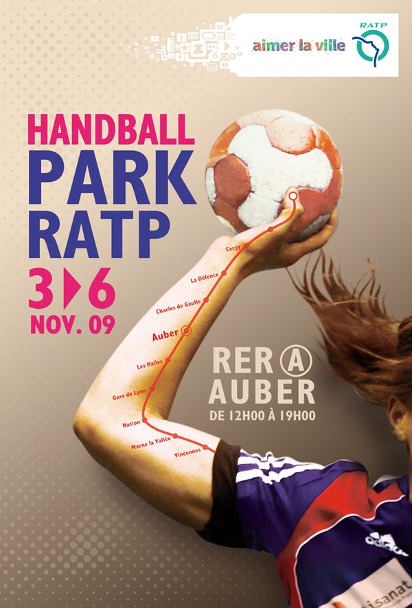 Handball Park by maëlle gosnet, via Behance