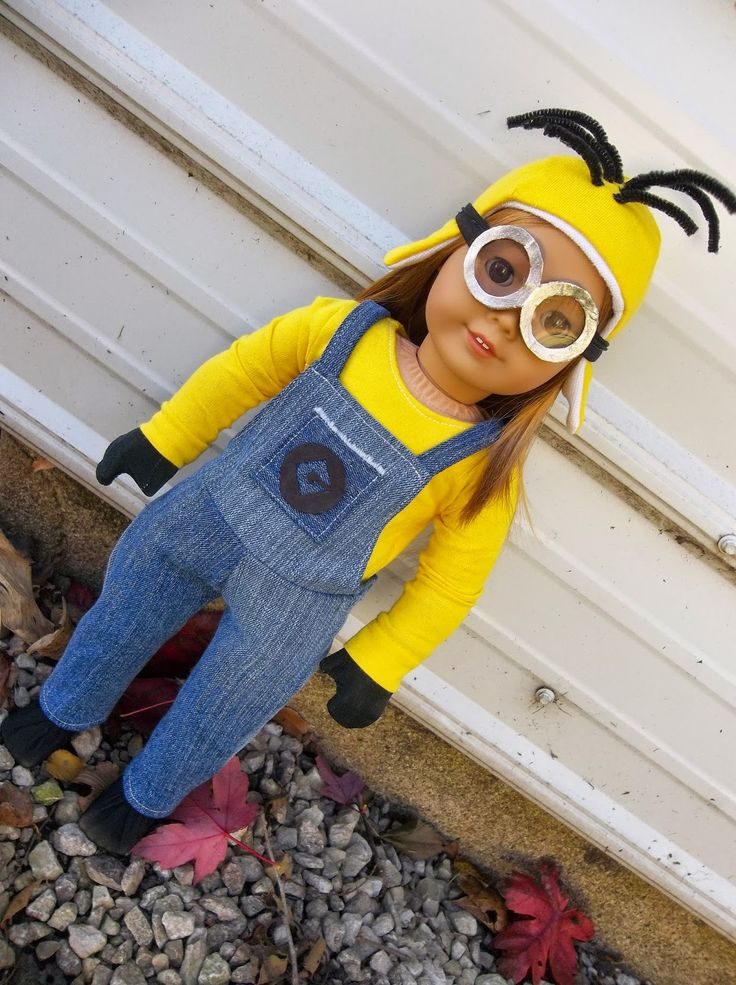 American Girl Place: Dolloween series day 10: Minion costume tutorial!!!