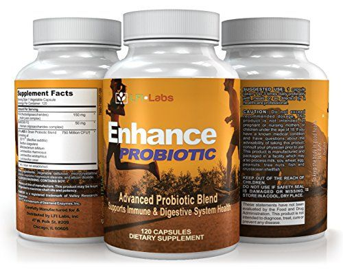 LFI Enhance Probiotic  Enhanced Probiotic Formula for Digestive Health Heart Health Immune Function Weight Loss Beautiful Skin ** Check out @