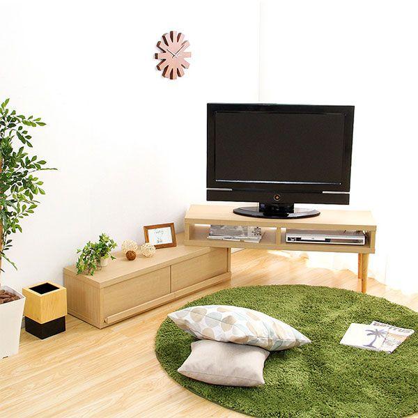 奥行き30cmの薄型伸縮式テレビ台 幅105-196cm(ウスガタシンシュクシキTVダイ)