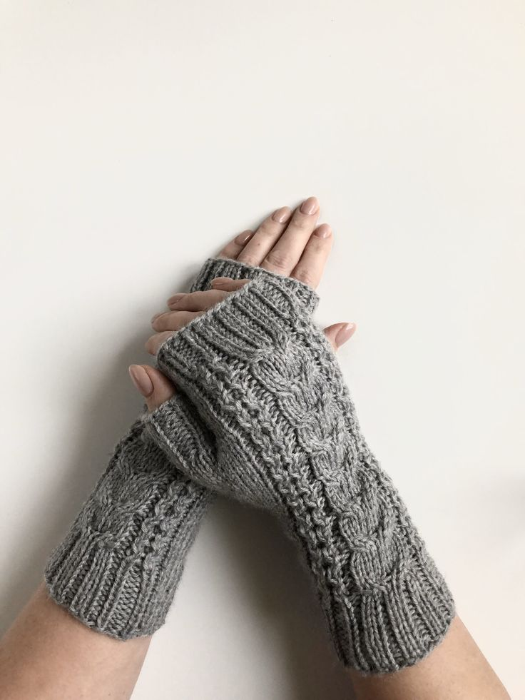 Celtic Cable Fingerless Gloves Knitting Pattern Make A Pair Of