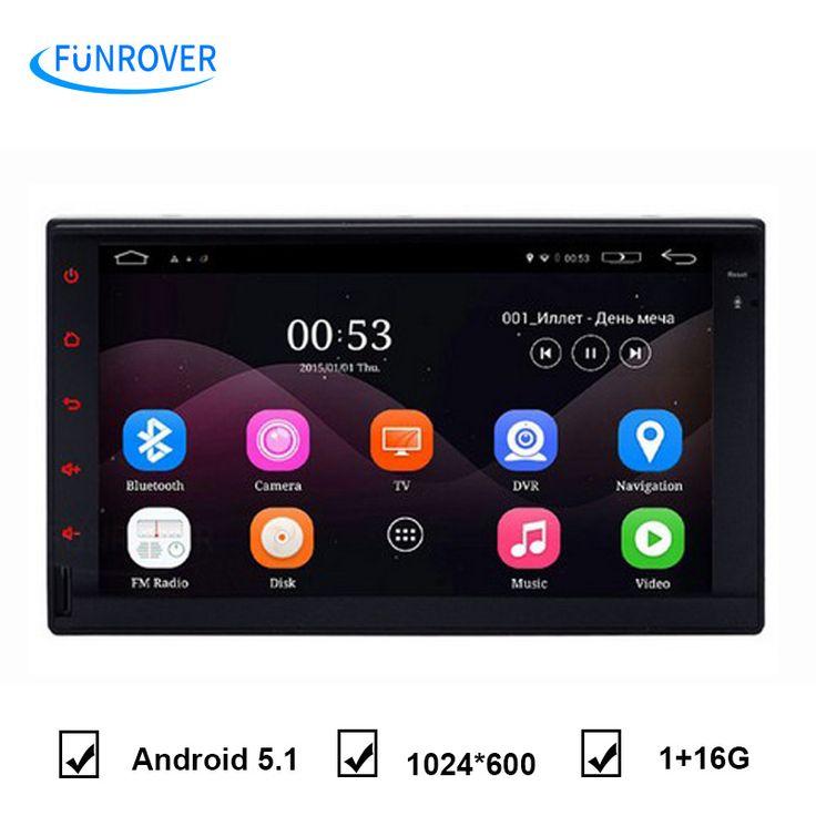 Sentuh penuh QuadCore 7 ''Ganda din android universal 2Din Android 5.1 Mobil GPS Universal 7 inci mobil multimedia player Stereo 2 din