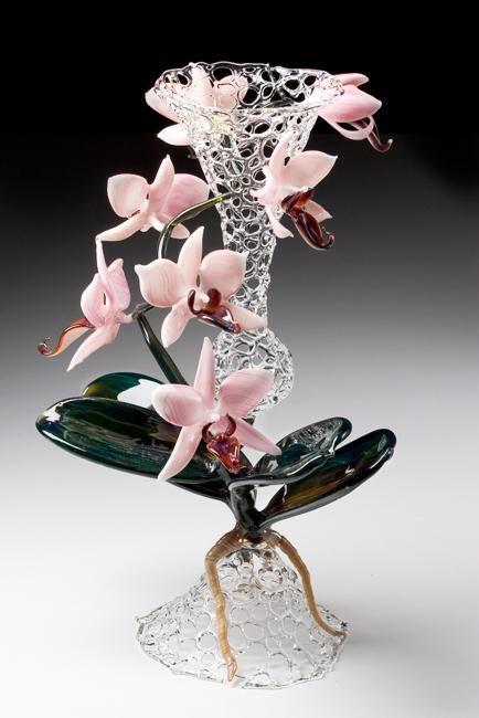 Вазы, не требующие цветов или стеклянные цветы:) - Ярмарка Мастеров - ручная работа, handmade