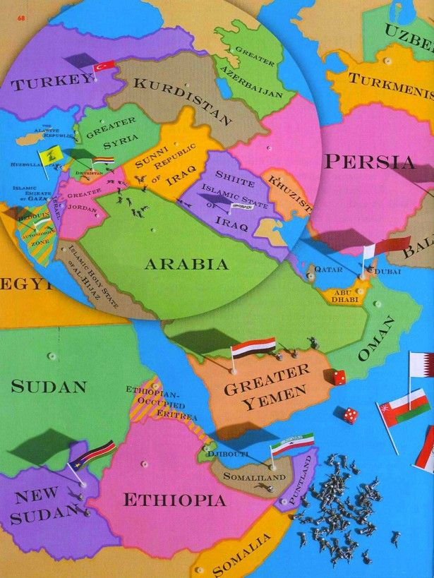 The New Map of the Middle East - The Atlantic: